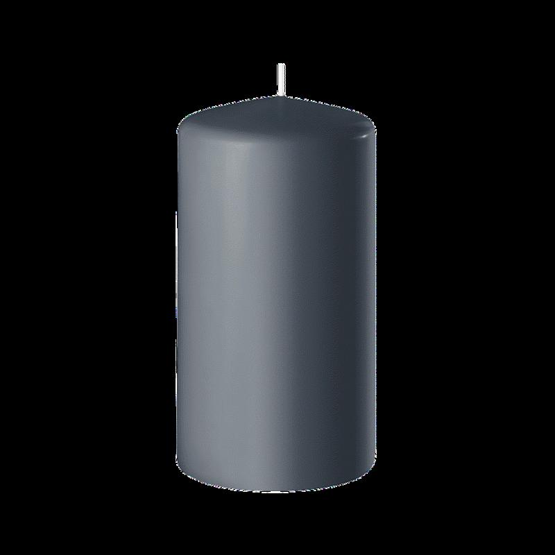 BOUGIE CYLINDRIQUE_100/60 x8pcs_GRIS ANTHRACITE_SAFE CANDLE_8-T10060-8