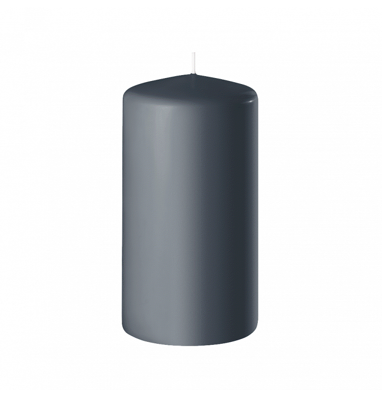 BOUGIE CYLINDRIQUE 120/60 x12_GRIS ANTHRACITE_SAFE CANDLE_8-T12060-12