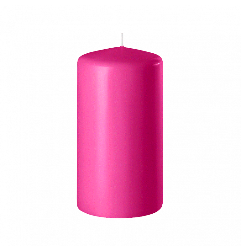 BOUGIE CYLINDRIQUE 120/60 x12_ROSE FUCHSIA_SAFE CANDLE_8-T12060-12
