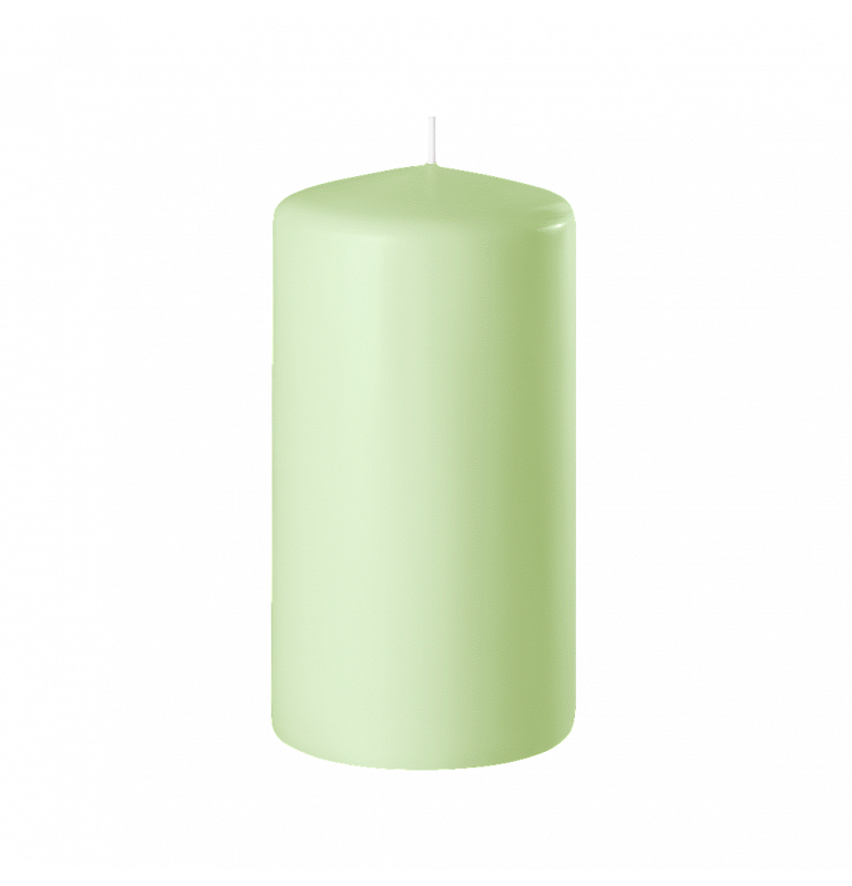 BOUGIE CYLINDRIQUE 120/60 x12_VERT PASTEL_SAFE CANDLE_8-T12060-12