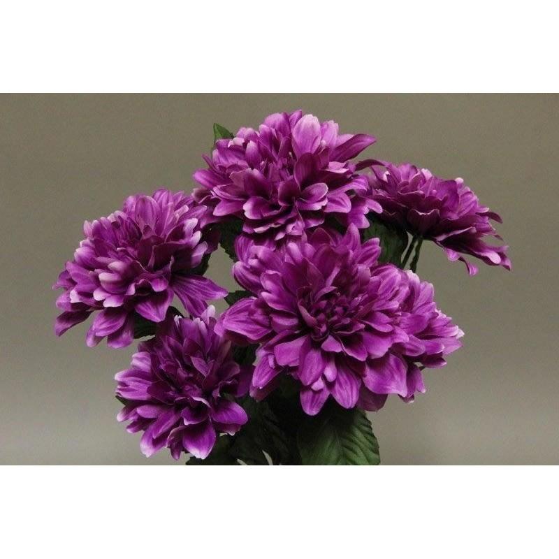 Piquet dahlia de couleur mauve H55cm