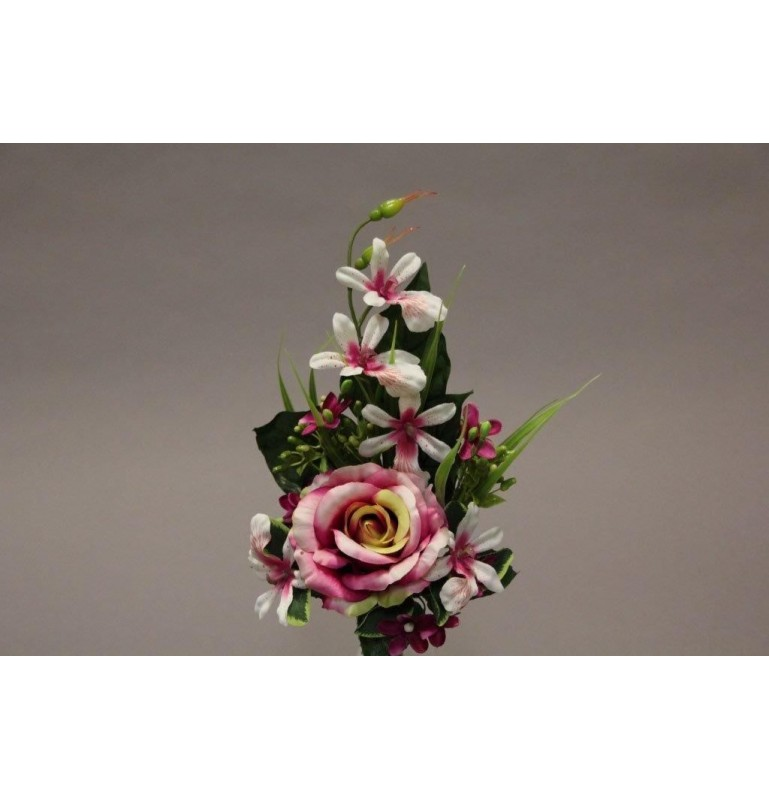 Piquet de rose orchidée rose H37cm