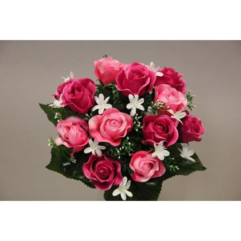 Bouquet de rose de couleur rose H31CM