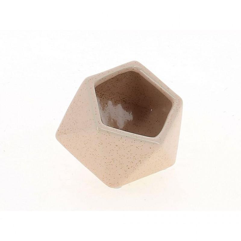CACHE POT CUBIQUE RUBIS ROSE_10,5x 10,6 x8,5cm