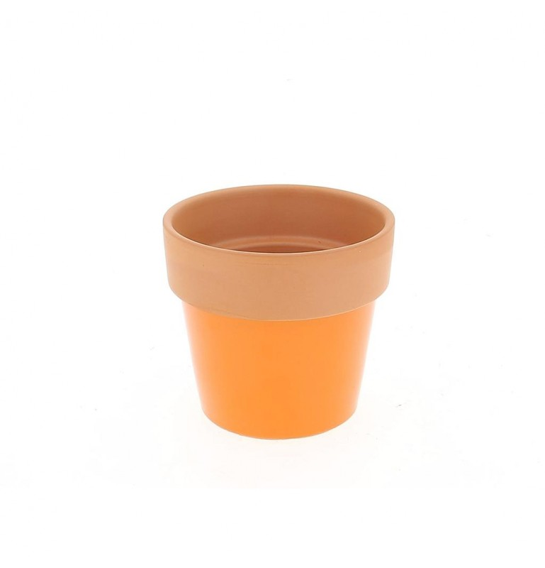 CACHE POT PM_ORANGE_D12,5CM H11,5CM_18JC1019-O
