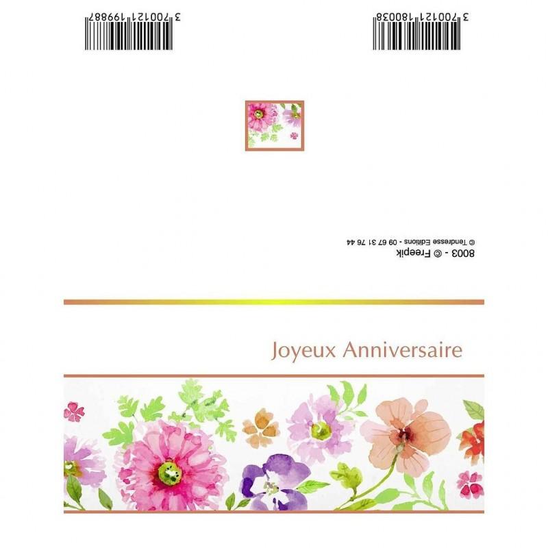 CARTE DOUBLE PLIEE x10pcs_JOYEUX ANNIVERSAIRE_8003
