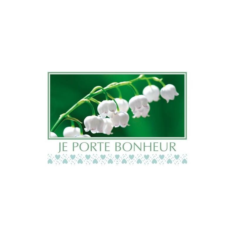 "CARTE ""JE PORTE BONHEUR"" SACHETx15pcs_740"