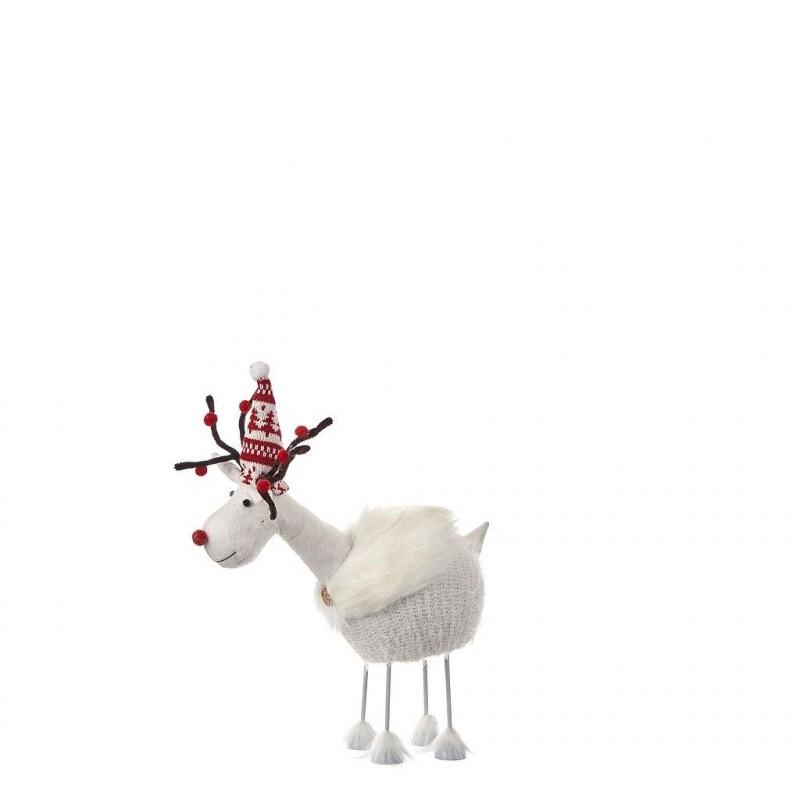 Cerf blanc H45 cm