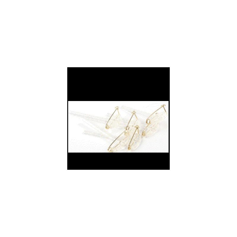 CLIP BOUTONNIERE_CORSAGE_TRANSPARENT_5cm - BROCHE