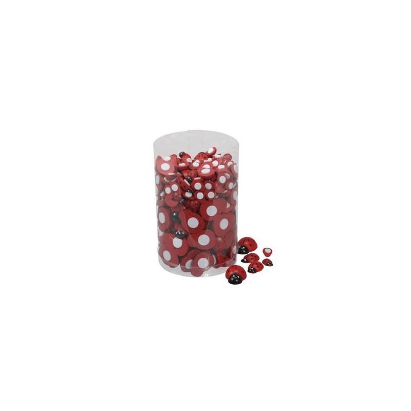 Coccinelle rouge en 3 tailles boîte de 255 pièces