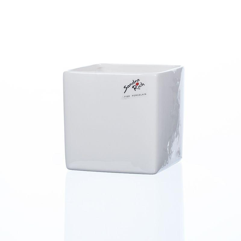 Cube porcelaine blanc H10 cm L10 cm