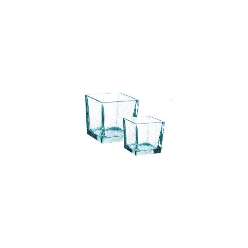 Cube verre 10x10cm Transparent