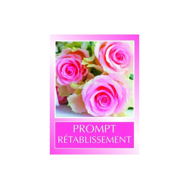 """ETIQUETTE AUTOCOLLANTE """"PROMPT RETABLISSEMENT""""_5022"""