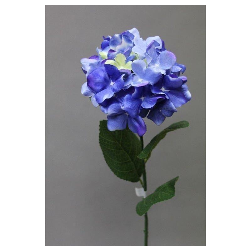 Hortensia artificielle Bleu H65cm