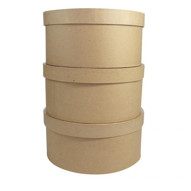 Lot de 3 boites à Chapeaux à décorer ø29cm
