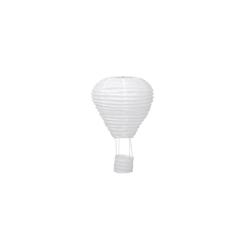 Montgolfière en papier coloris blanc H25 cm