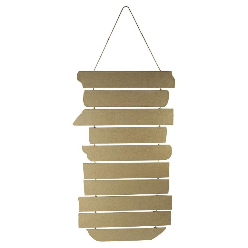 Panneau directionnel décoratif en carton