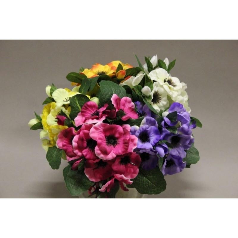 Piquet de pensées fleurs artificielles couleurs assorties