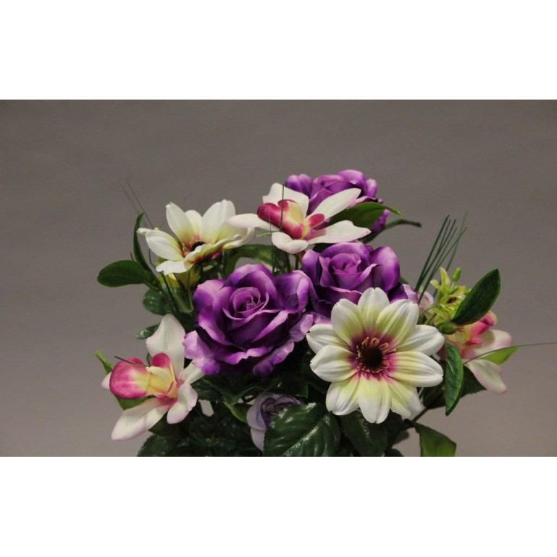 Piquet rose orchidée artificiel x14 Fuchsia