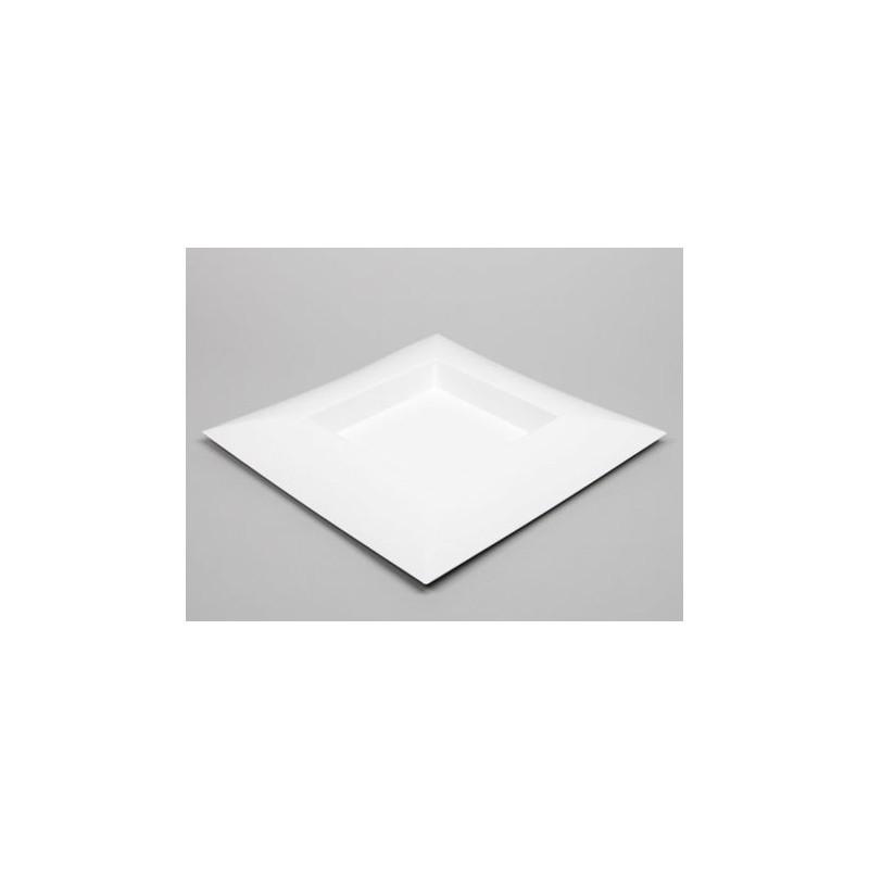 PLATEAU PLASTIQUE CARRE_BLANC_40x40x4,5cm_223497