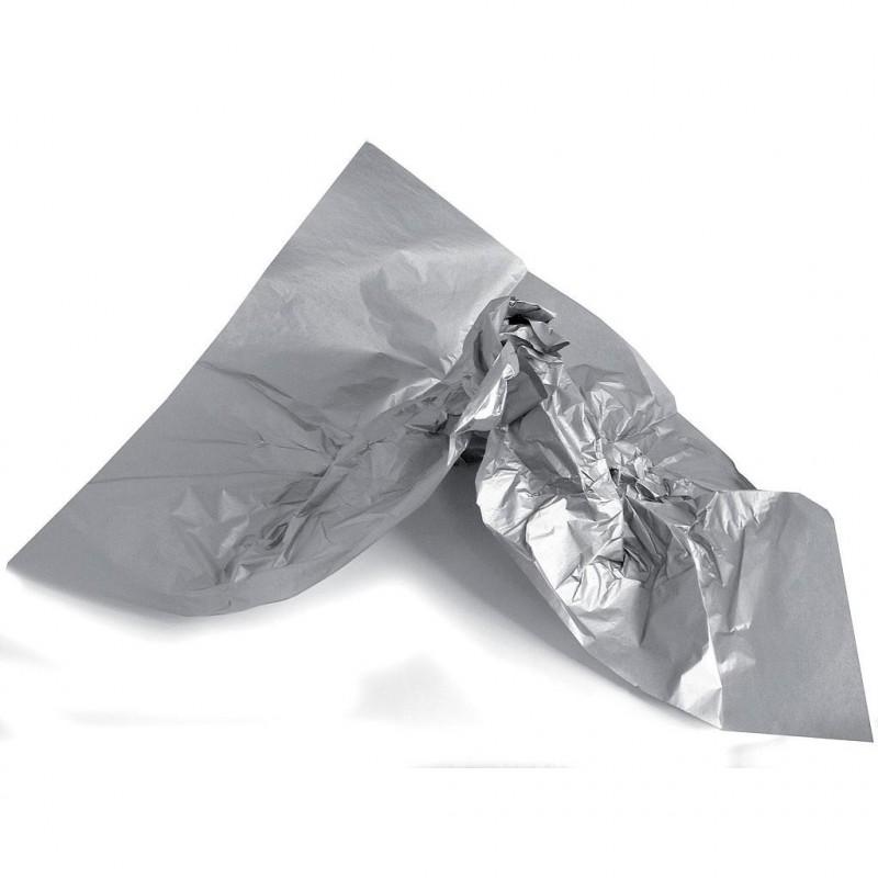 Rame papier de soie argent 75x50 cm en 22gr/m2