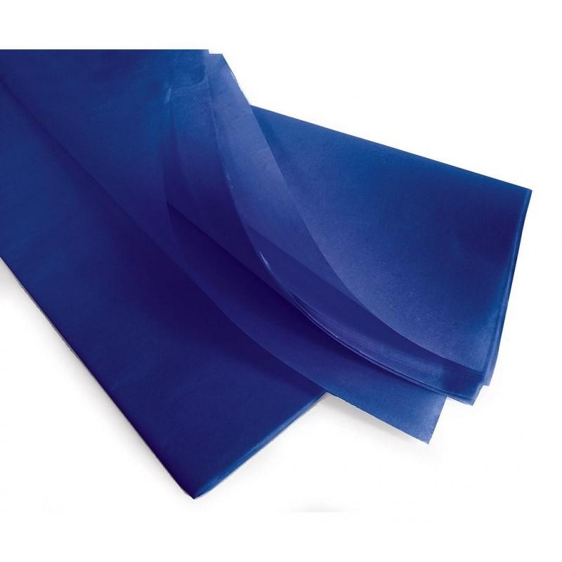 Rame papier de soie bleu 75x50 cm en 17gr/m2 par 240 feuilles