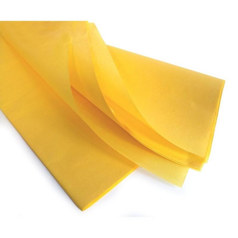Rame de papier de soie jaune 75 x 50 cm en 17gr/m2 - 240 feuilles