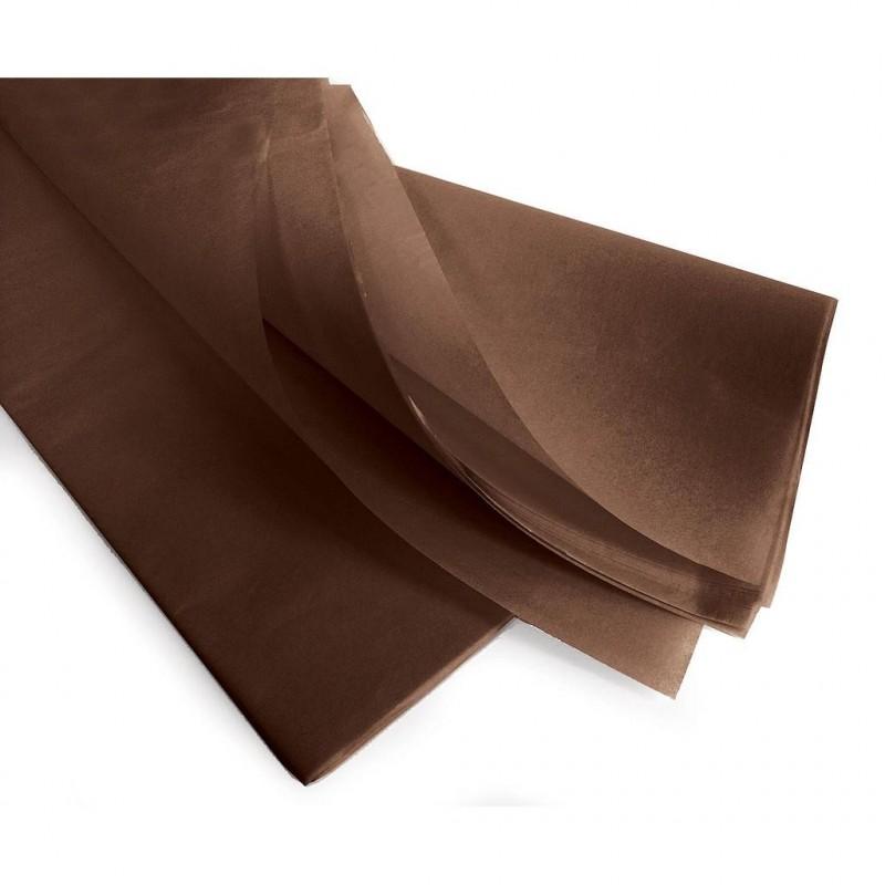 Rame papier de soie chocolat 75x50 cm 17gr/m2 par 240 feuilles
