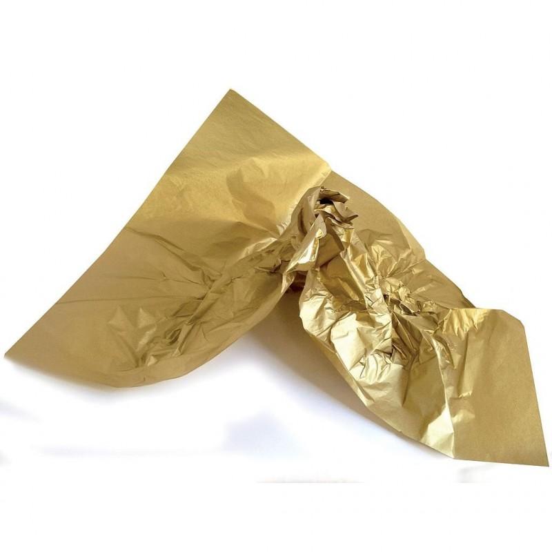 Rame papier de soie coloris or 75x50 cm en 22gr/m2