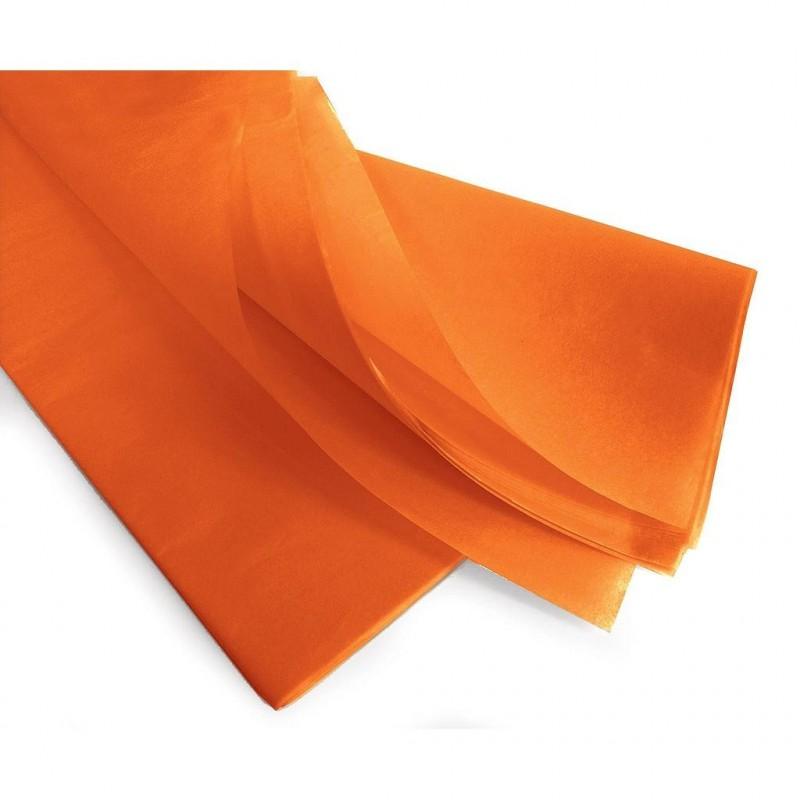 Rame papier de soie orange 75x50 cm en 17gr/m2 par 240 feuilles