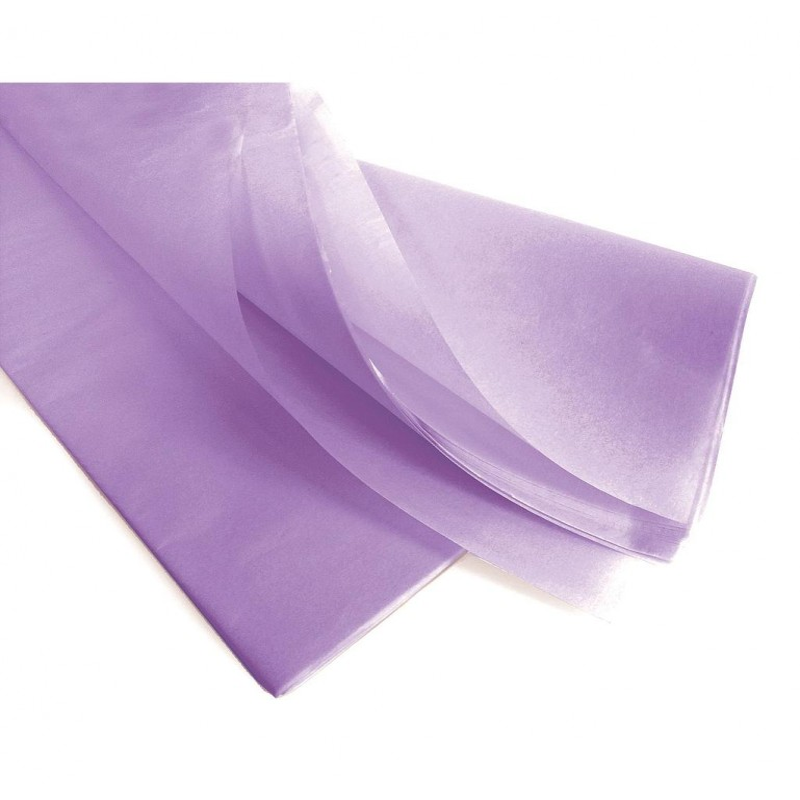 Rame papier de soie parme 75x50 cm en 17gr/m2 par 240 feuilles
