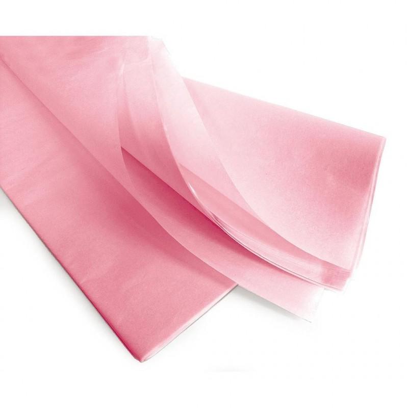 Rame papier de soie rose 75x50 cm en 17gr/m2 par 240 feuilles