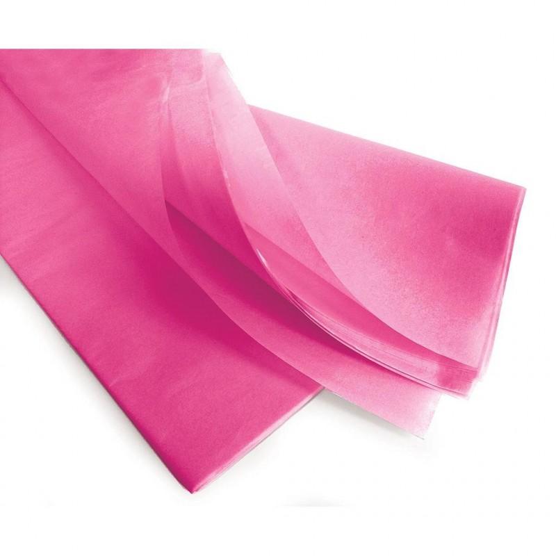 Rame de papier de soie fuchsia 240 feuilles en 75x50cm en 17gr/m2