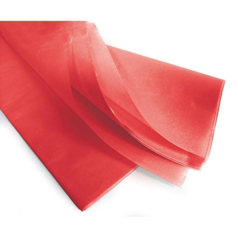 Rame papier de soie rouge 75x50 cm 17gr/m2  par 240 feuilles
