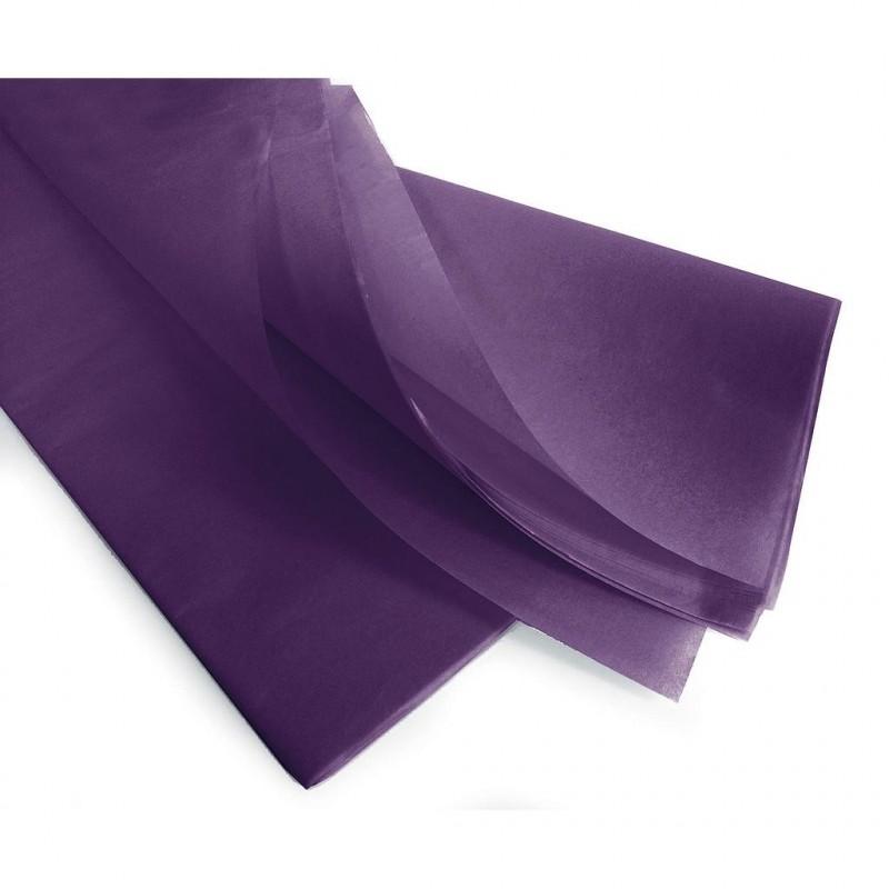 Rame papier de soie violet 75x50 cm en 17gr/m2 par 240 feuilles