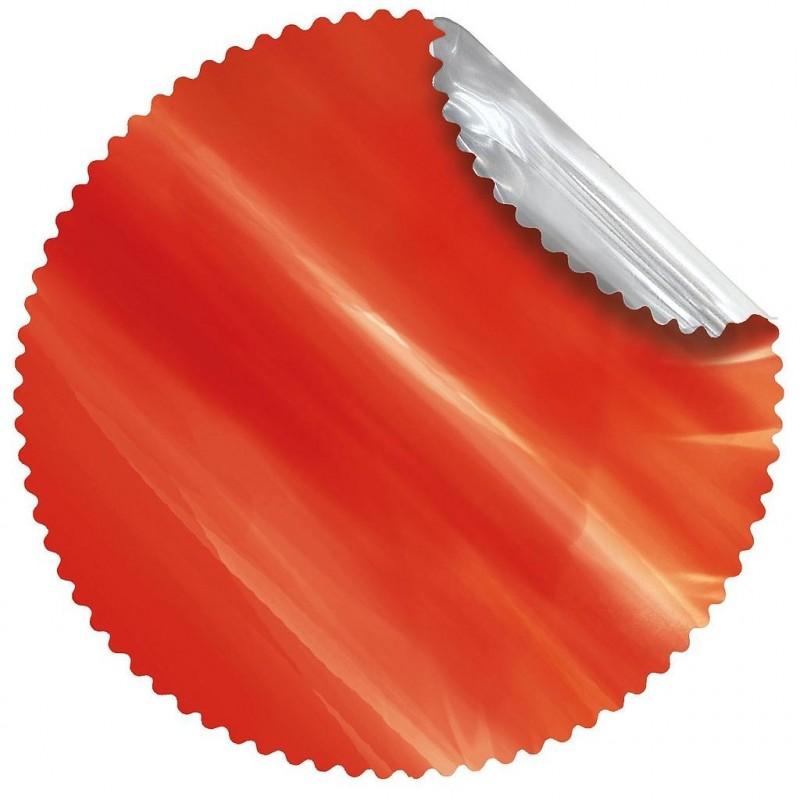 Rosace métal rouge ø48 cm
