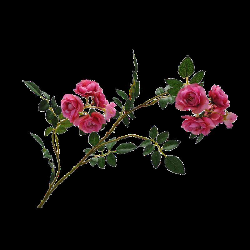 Rose avec feuille artificielle Rose H85cm