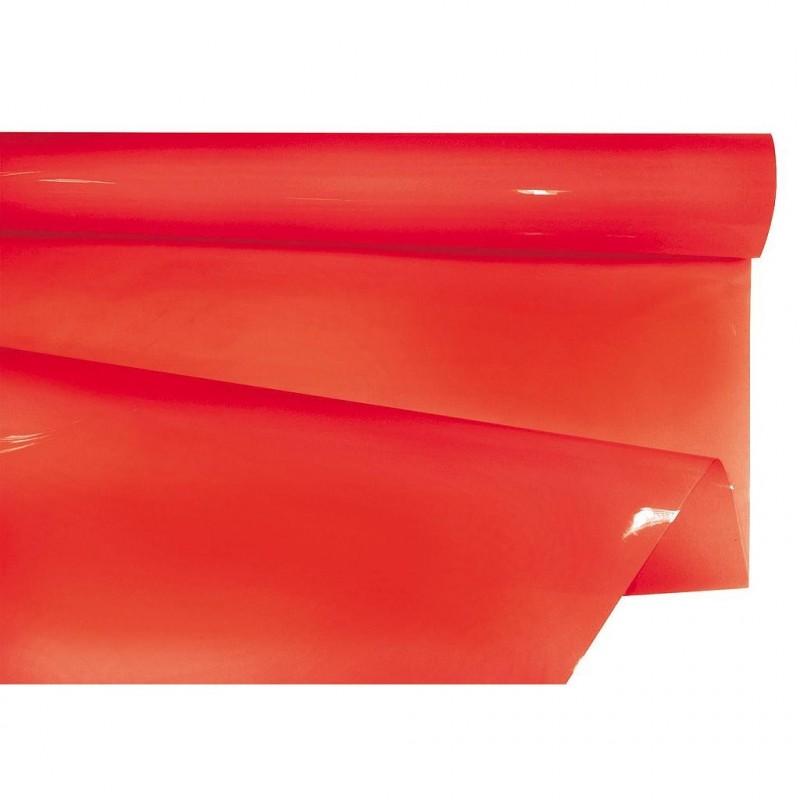 Rouleau papier bulle coloris rouge en 35 microns  0,80 x 40m
