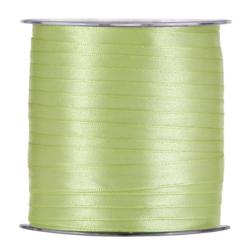 Ruban satin  10mm x 100m Citron vert