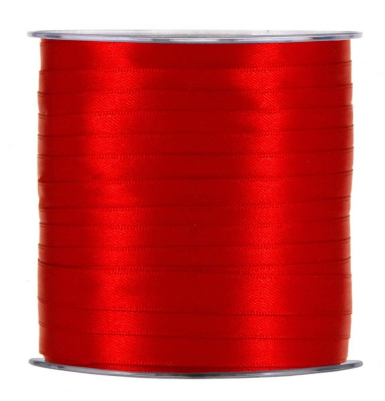 Ruban satin rouge 10 mm x 100 m