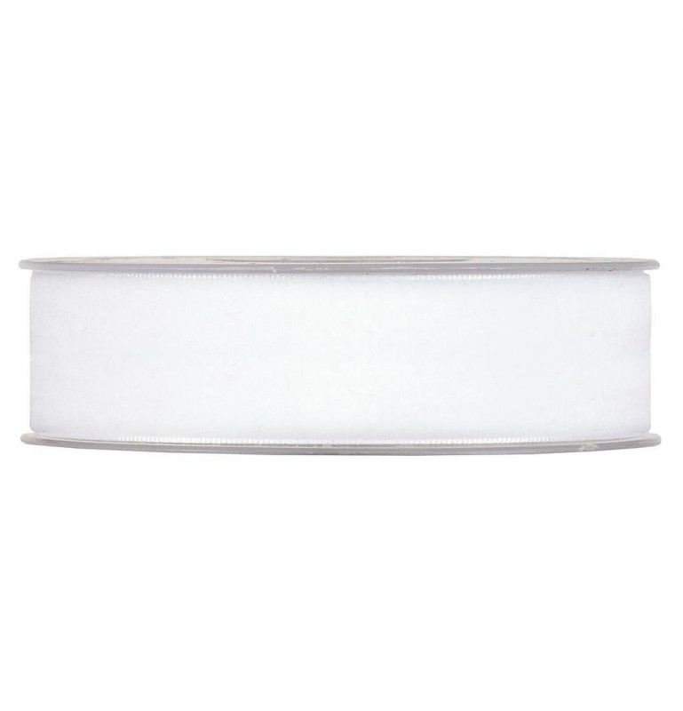 RUBAN VELOURS BLANC 25mm x 9m_3411M 01