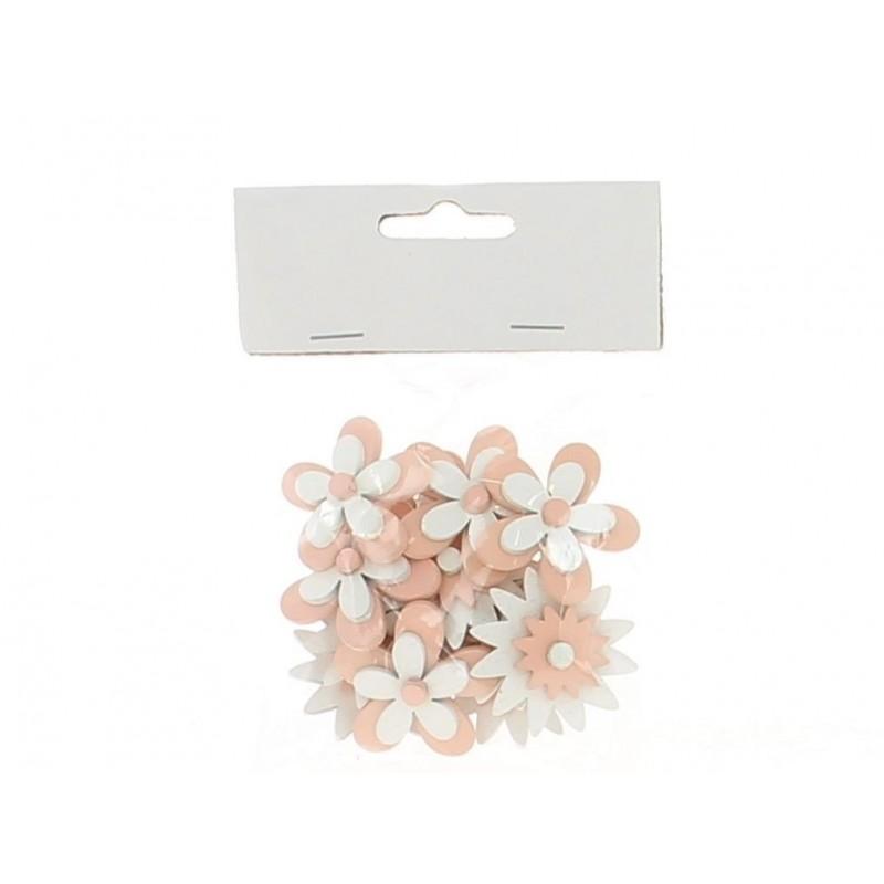 Sachet de 12 fleurs coloris rose en 3,5 cm