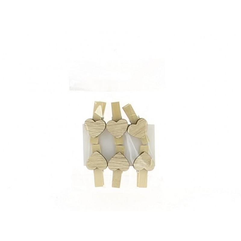 Sachet d'épingle forme de coeur en 3,5x3 cm lot de 6 pièces