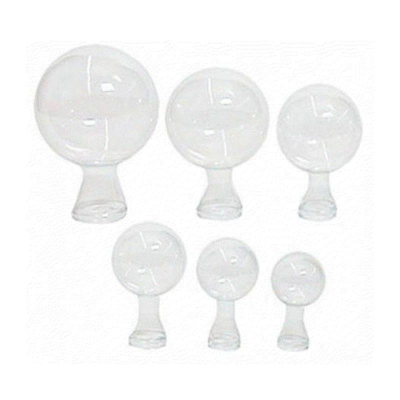Pipette ronde transparente sachet de 25 pièces ø 6,6cm