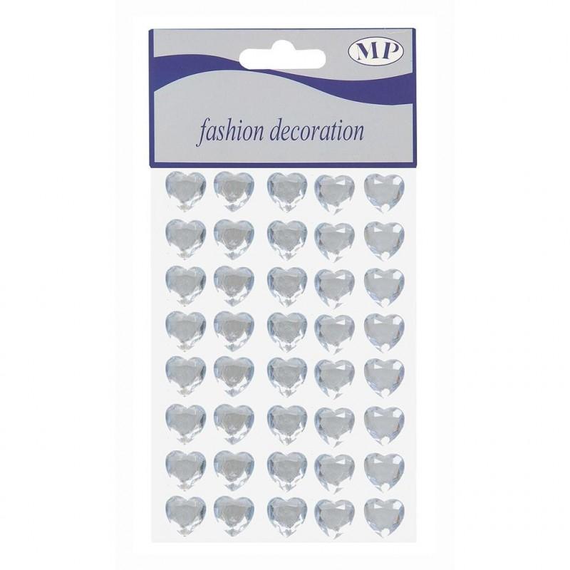 Stickers coeur en 16 mm sachet de 40 pièces