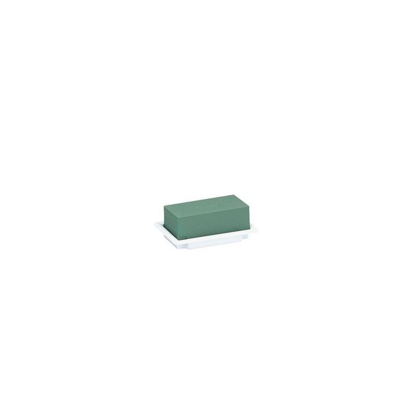TABLE DECO MINI _13x9cm_BASE PLASTIQUE BLANC_x8 pcs_11-04042