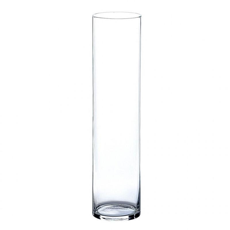 Vase cylindrique tube verre H50 ø12cm Transparent