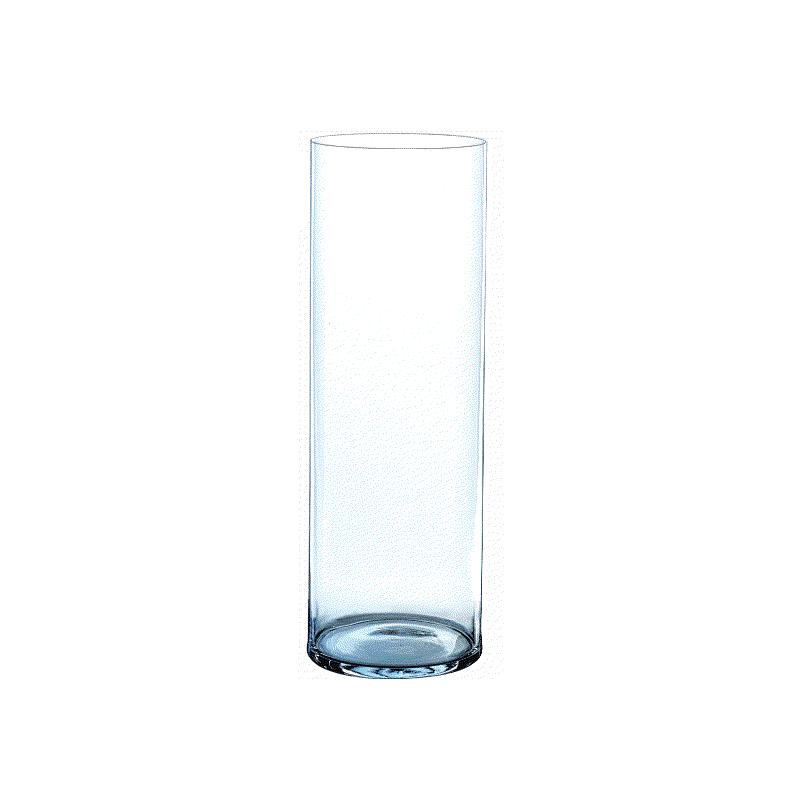 Vase cylindrique verre H30cm ø12cm Transparent