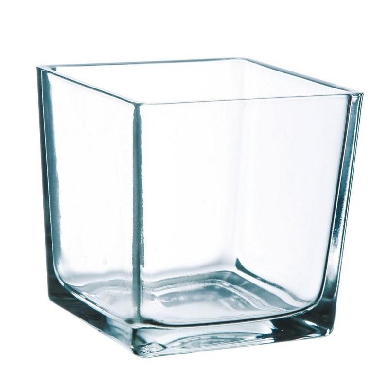 Cube verre 14x14cm Transparent