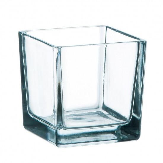 Cube en verre transparent 6x6x6cm